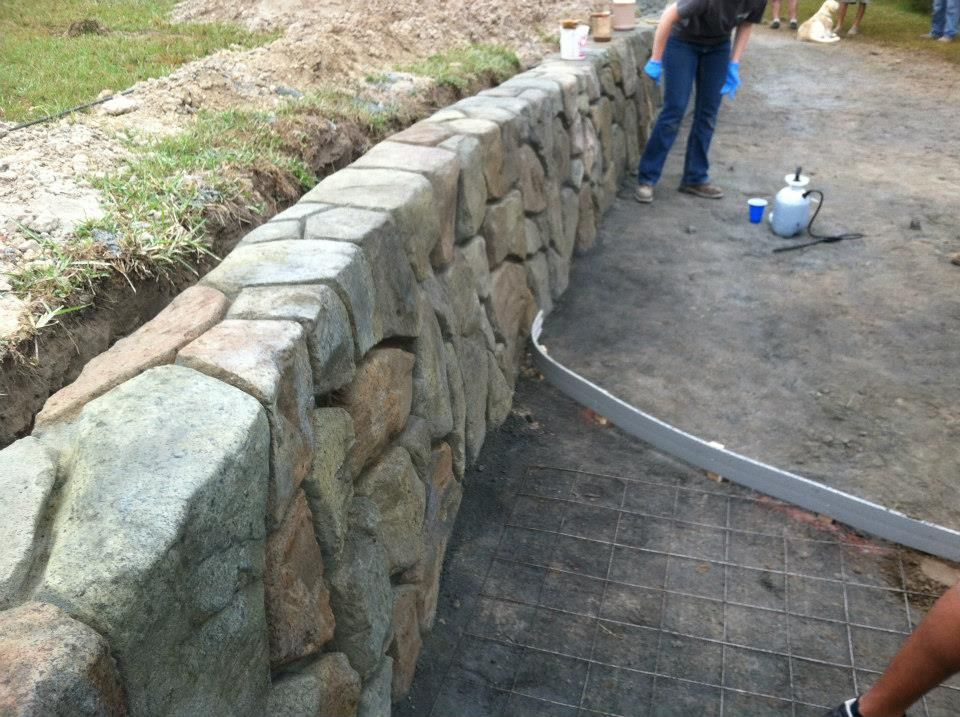 Decorative concrete expert in wichita ks s k hardscapes - Decorative concrete wall forms ...