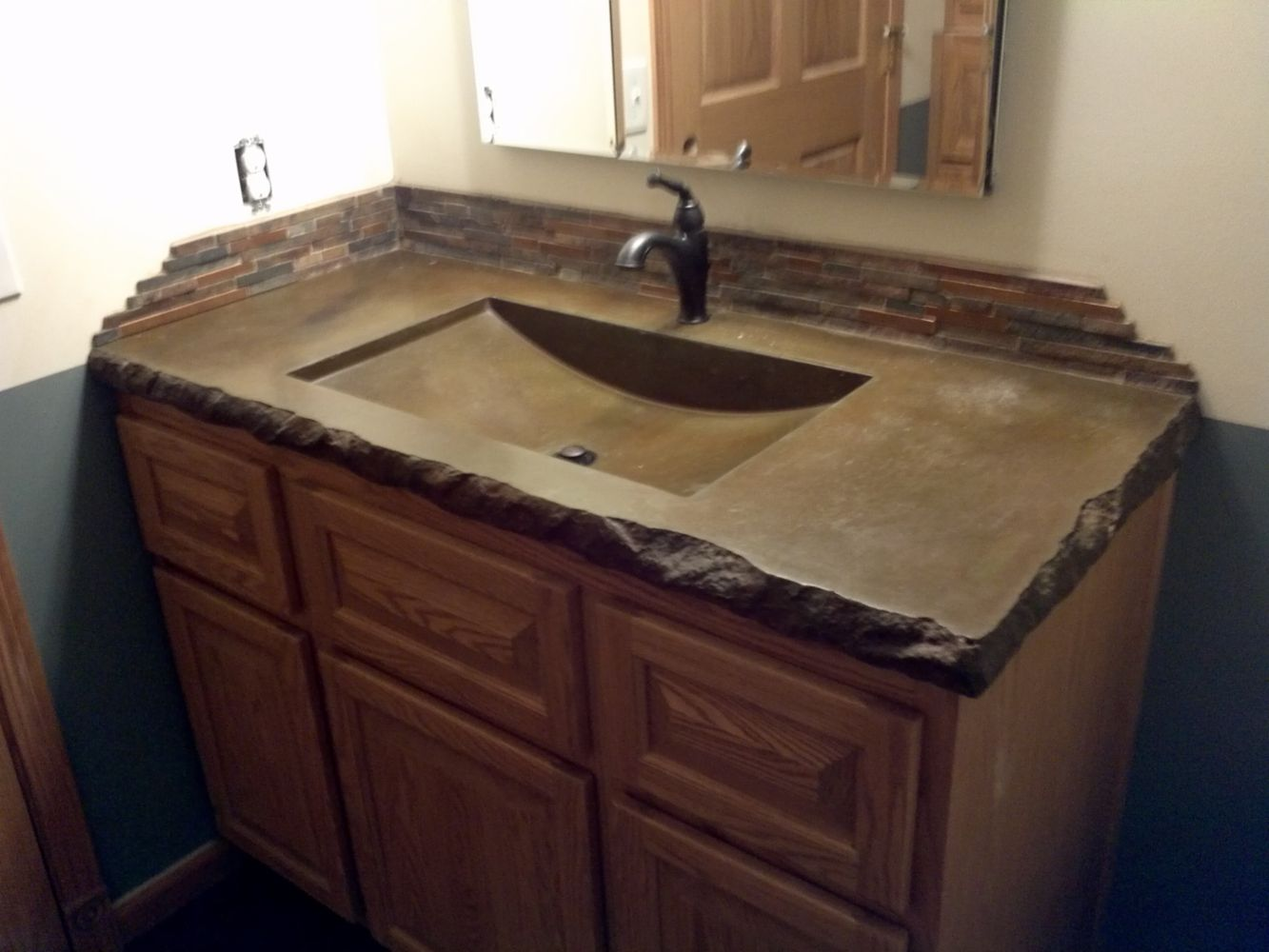 Bathroom Vanity Countertops With Sink Concrete Bathroom