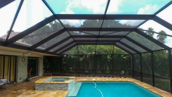 Pool screen enclosure in houston tx fdr custom for Swimming pool screen enclosures cost