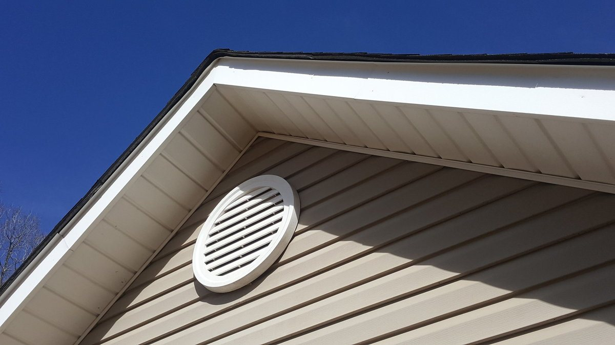 Attic Fan from the outside of the house
