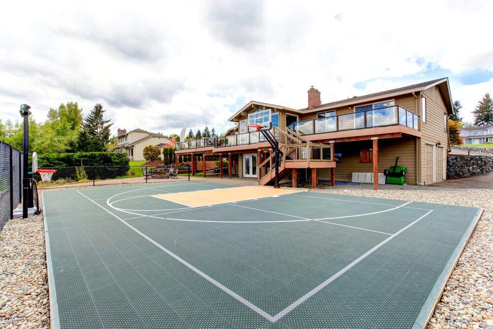 2021 Basketball Court Cost Backyard Basketball Court Installation Cost