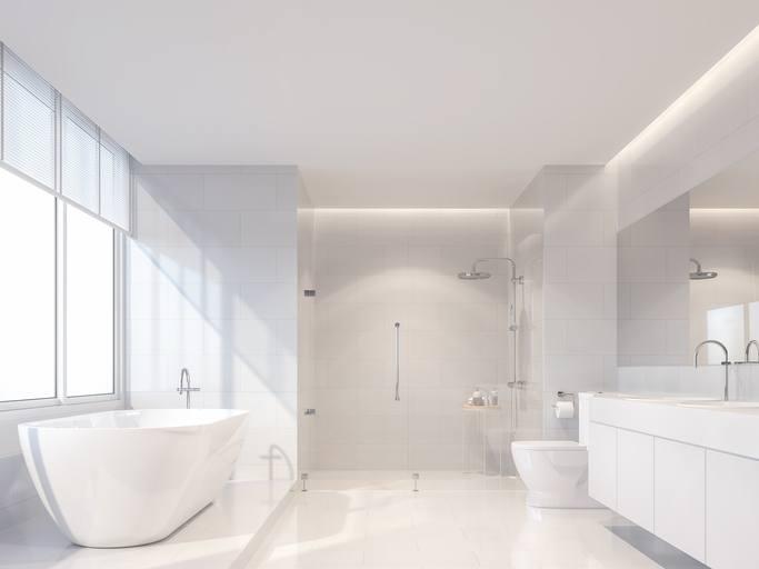 Classic white bathroom design