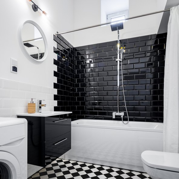 Retro bathroom design