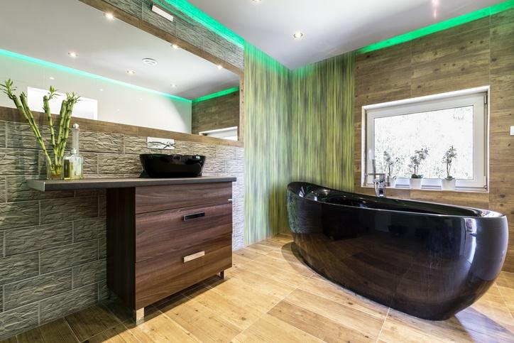 Japanese zen bathroom design
