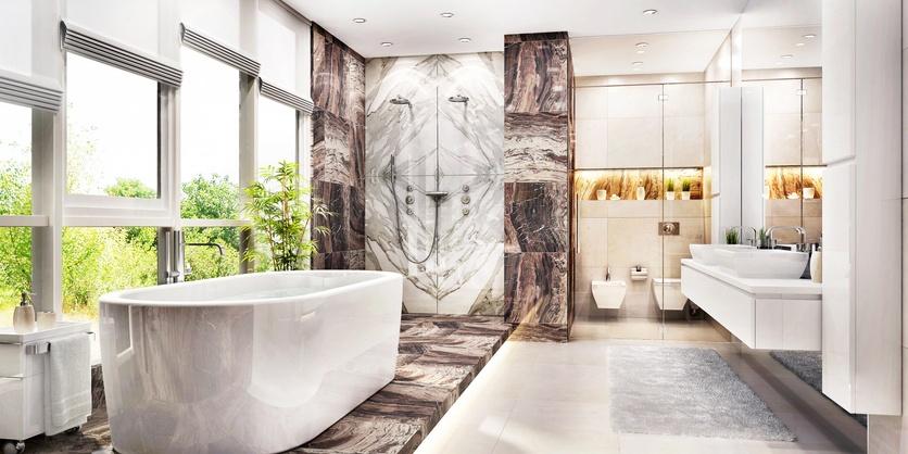 Spa bathroom design