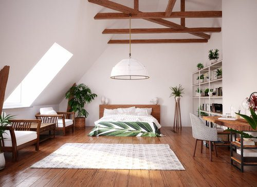 Modern and Bright Attic Loft with High Ceiling