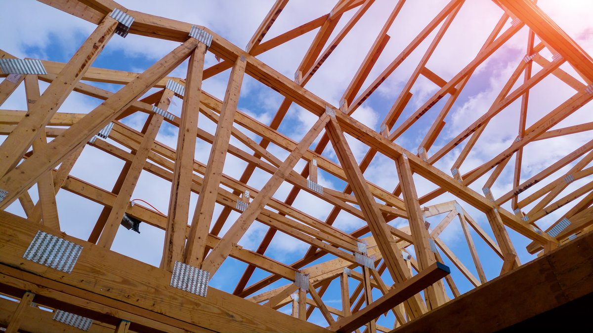 Roof frame made out of wood