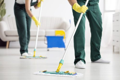 Cleaning Service Mopping House Floor