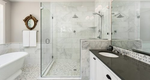 Cost To Install Shower Estimates And Prices At Fixr - Cost to replace shower enclosure