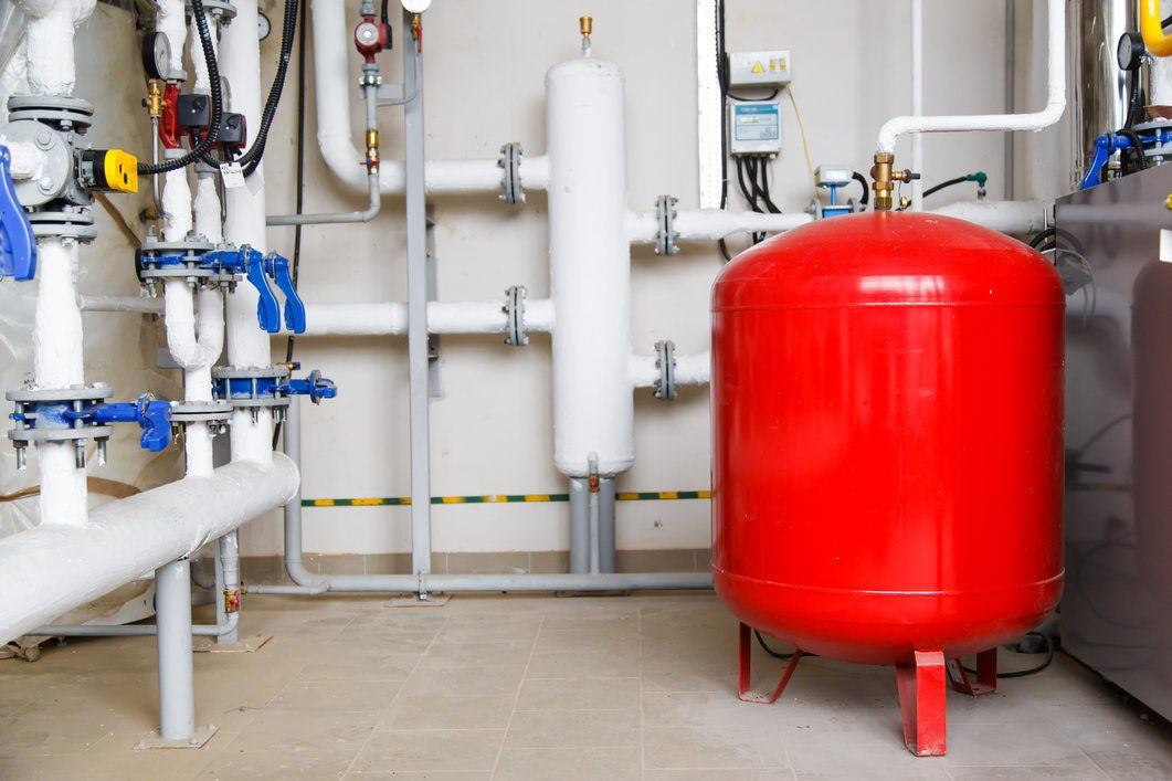 Red oil boiler at home