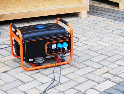 Gasoline portable generator for electric power supplies