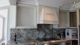 1 backsplash the upright surface often made of tile behind a kitchen counter sink or stove that protects the wall from damage from splatter due to