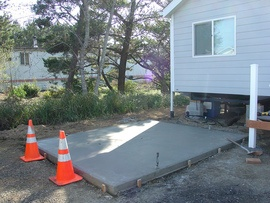 glossary term picture Concrete Pad