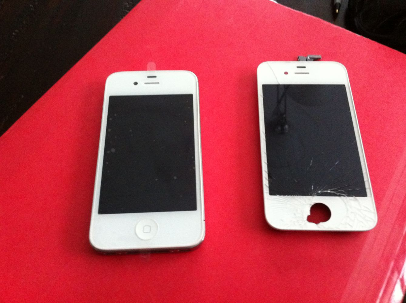 Broken IPhone Before And After