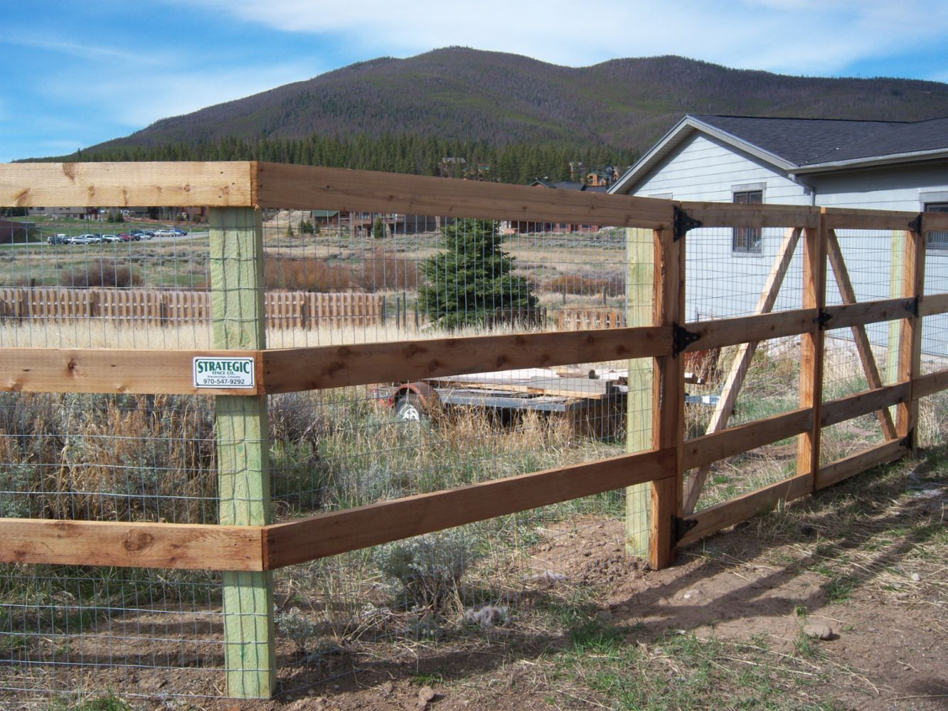 Fencing Contractor In Breckenridge Co Strategic Fence