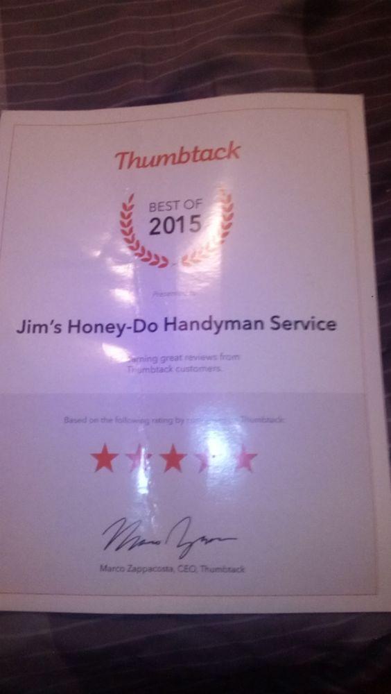 """The """"HoneyDo Handyman"""" in Salina, KS - Jim\'s Honey-do ..."""