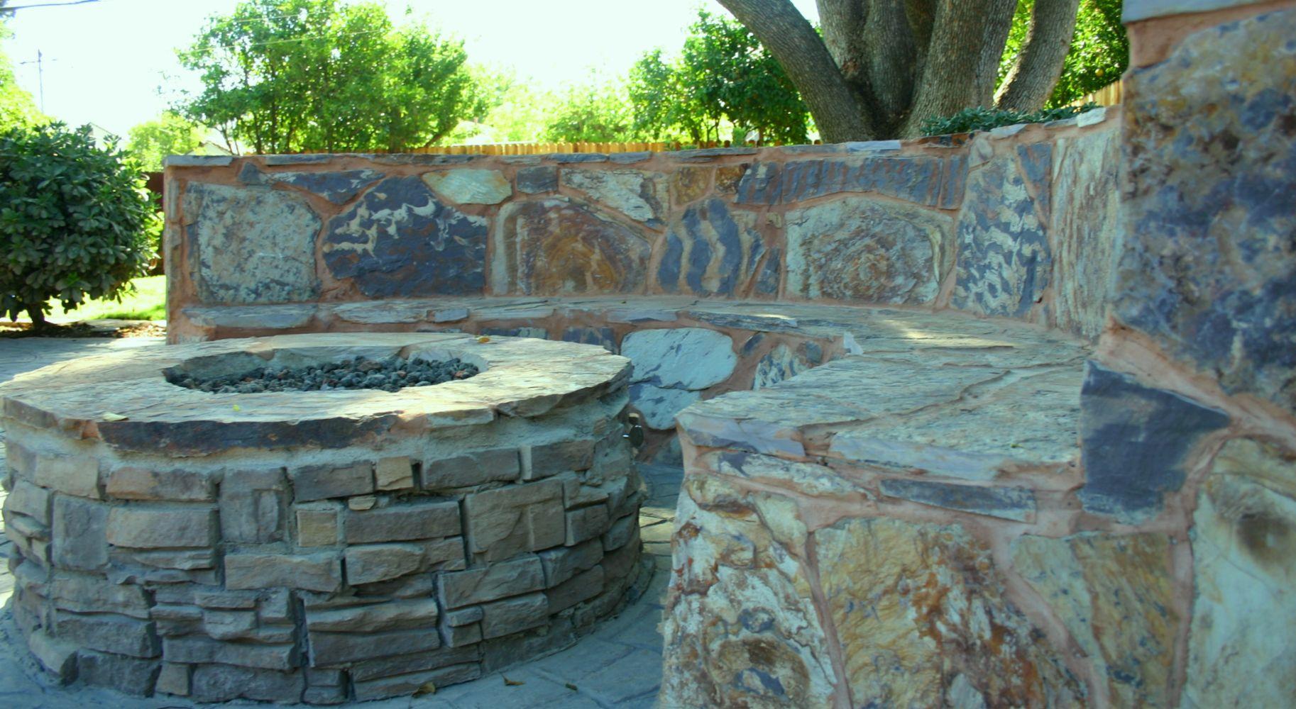 masonry and concrete works in sacramento ca california backyard