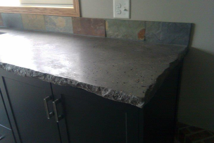 Concrete Counter Top With 2