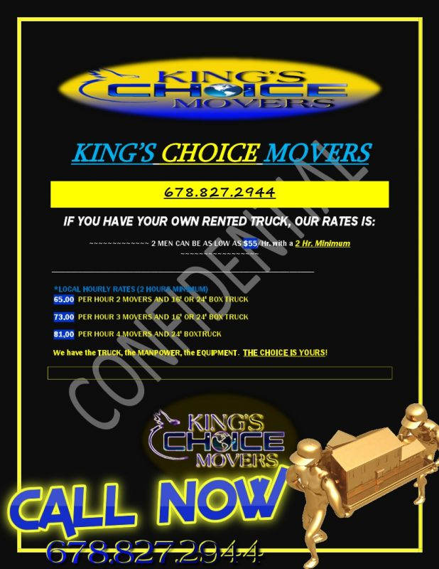 Professionalism At It's Best in Decatur, GA - King's Choice Movers LLC