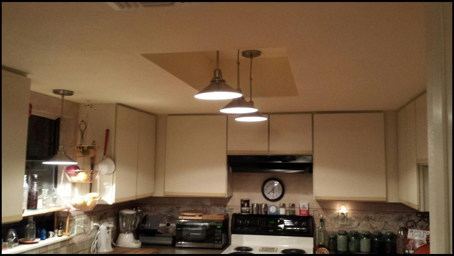 This Kitchen Not Only Did We Removed The Acoustic Ceiling But Sprayed  Orange Peel Texture And Painted The Ceiling. We Also Removed The Florescent  Fixture ...