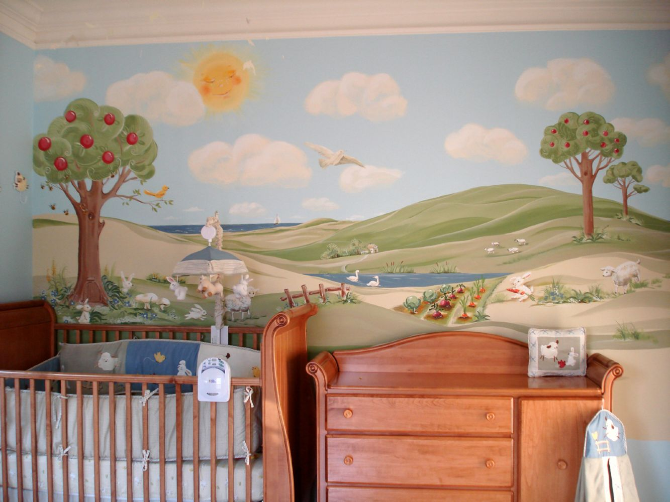 Custom Hand Painted Mural.
