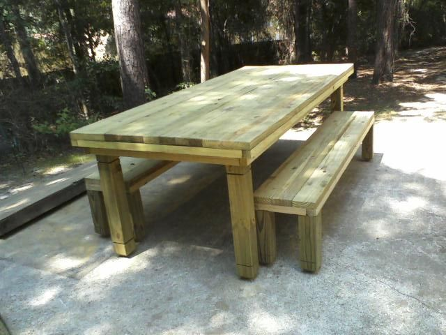 Custom Tables Chairs In Tallahassee FL Norms Tables - Treated lumber picnic table