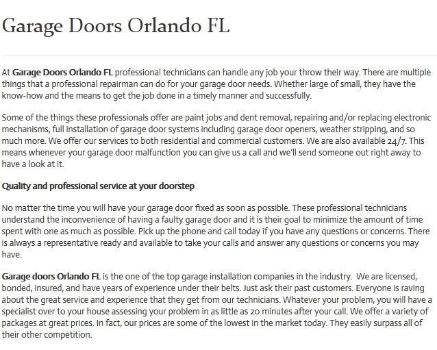 Garage door repair installation in orlando fl ohd for Garage doors orlando fl