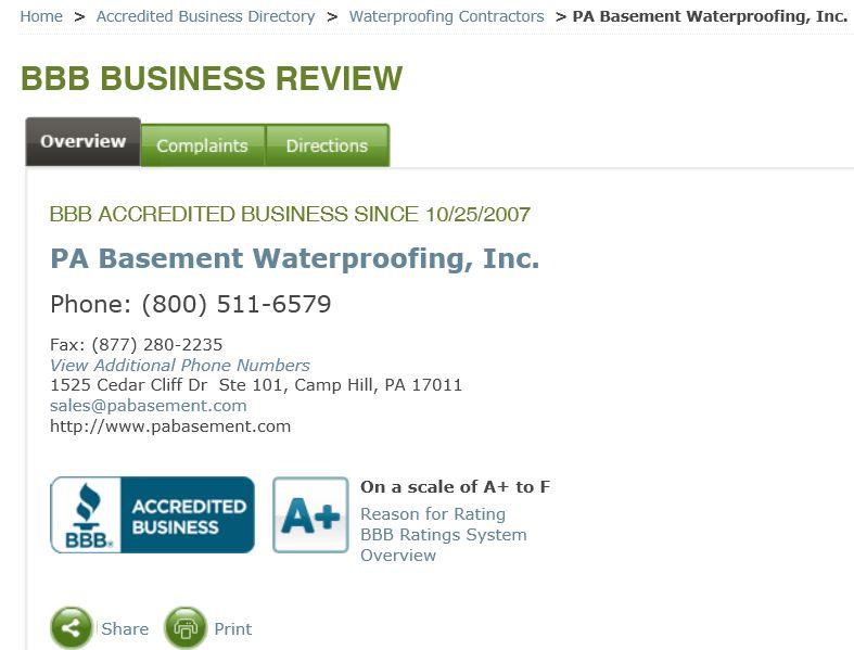Basement Waterproofing In Harrisburg PA PA Basement - Pa basement waterproofing