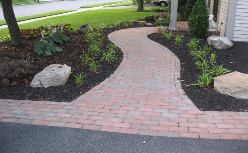 Decorative landscape curbing in mechanicsburg pa red for Decorative rocks for landscaping near me