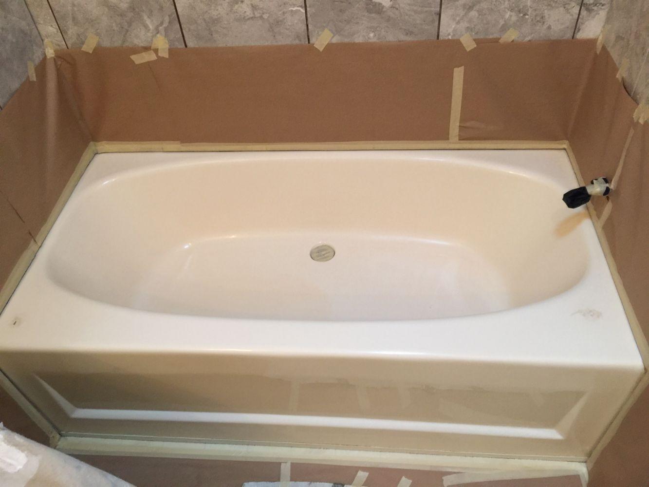 Pretty Can I Paint My Bathtub Small How To Paint A Bath Tub Regular Bathroom Refinishers Porcelain Refinishing Company Young Tub Reglazing DarkBathtub Refinishing Cost Bathroom Resurfacing Cost   Urevoo