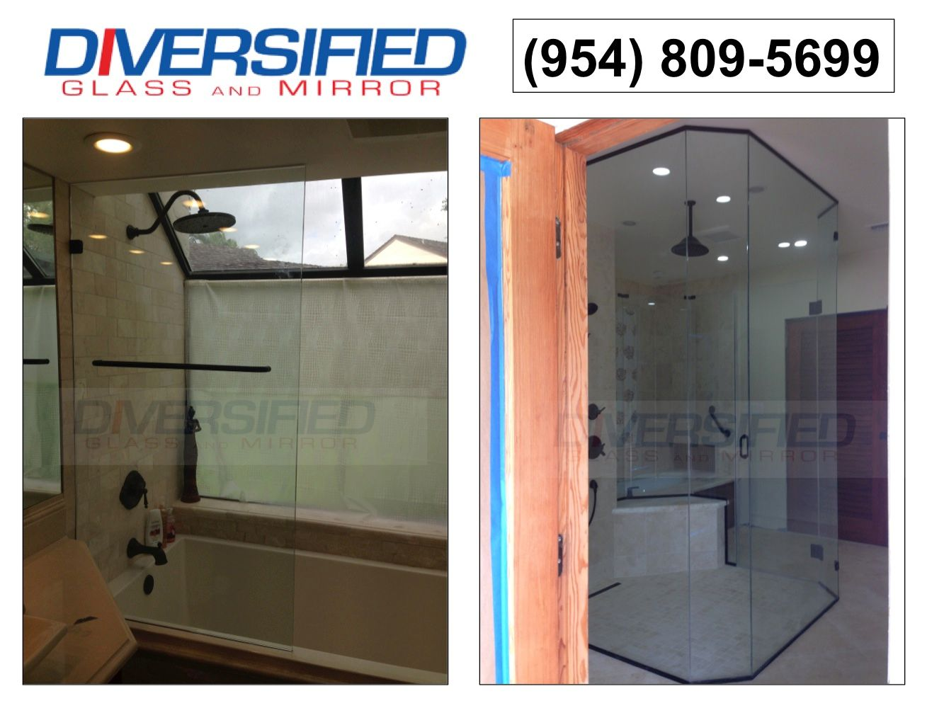 Window Glass Repair In Pompano Beach FL Diversified Glass And Mirror - Bathroom shower door repair