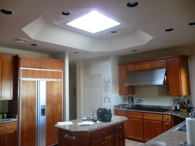 Exceptional Skylight And Opening Designed To Make Kitchen Space Larger