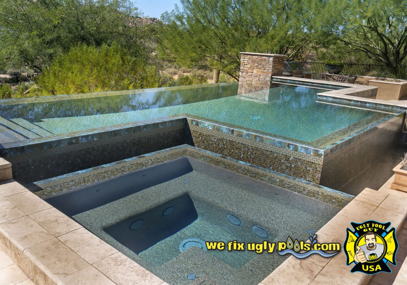 Pool remodeling and repair in peoria az we fix ugly pools for Pool durchmesser 4 50