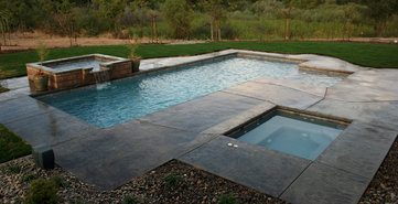 Concrete vs fiberglass pool pros cons comparisons and - How much does the average swimming pool cost ...
