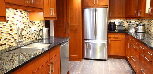 comparison guide 2 Stained Cabinets