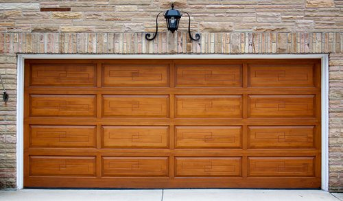 Wood Garage Door. PROS